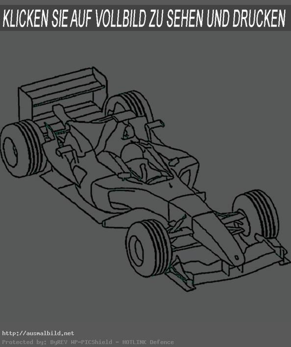 Ausmalbilder Autos. F1
