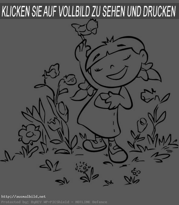 Ausmalbilder Frühling (Bild1)