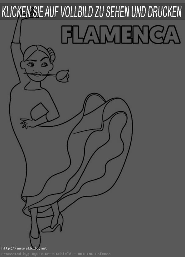 Ausmalbild Emoji der Movie: Flamenca